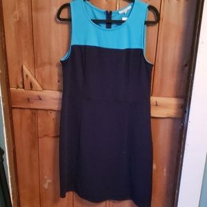 BNWT Navy and teal knit dress